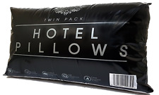 2 x Hollow fibre Hotel Egyptian Stripe Bed Pillows Soft High Quality