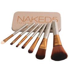 Pro 7 Pcs NAKE5 Makeup Set Powder Foundation Eyeshadow Cosmetic Brushes
