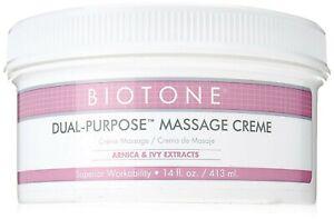 NEW - Biotone Dual Purpose Massage Cream - Lot of 20 tubes - 14 Oz. each