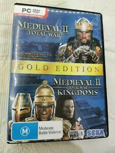 Medieval II 2 Total War Gold Edition plus Kindoms expansion pack Game PC - VGC
