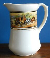 "Large Antique Pottery Water Jug ""In Shakespeare's Time"" print country coaching"