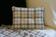 NEW Custom Ralph Lauren Winter Rose Accent Pillow 2 Button Tattersall