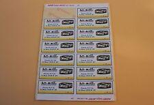 QGb 1 planche 13 ex étiquette autocollant Porsche 917 Lh Me Mans 1970 N°25 Heco
