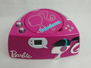 BARBIE Glamtastic BOOMBOX Radio CD Player Cheap Clean -Read-