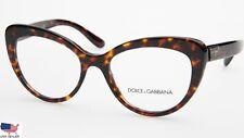 NEW D&G Dolce & Gabbana DG3255 502 Dark Havana Eyeglasses 53-18-140 B42mm Italy