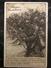 1918 Military Post Office Italy Patriotic Postcard cover to Genoa
