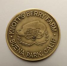 Vintage Brass Token: KNOTT'S BERRY FARM; Buena Park CA;  GOOD LUCK