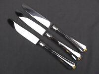 """3 x Oneida Golden Juilliard Stainless Dinner Knife 9 1/2"""""""