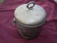 Sheffield Silver Ice Bucket Vintage with LION HANDLES with LID Made in USA