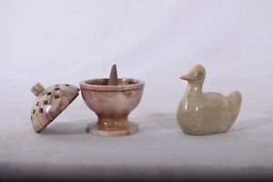 Handmade Stone Incense holder burner Cone and Stick Holder Duck Combo pack