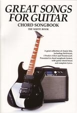 GREAT SONGS FOR GUITAR Chord Songbook WHITE Book