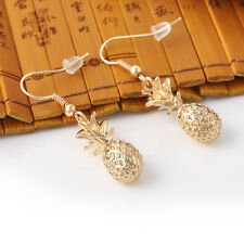 Fashion Vintage Women Gold Pineapple Ear Hook Dangle Earrings Jewelry