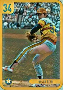 "Nolan Ryan Custom Art Baseball Card ""read description"""