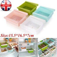 Kitchen Fridge Slide Case Storage Boxes Space Saving Organizer Drawer Holder UK
