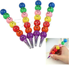 7 Colors Stacker Swap Tip Wax Crayons Pencil Stationary Set Filler For Kids