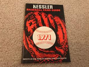 1971 KESSLER'S BASEBALL FANS GUIDE