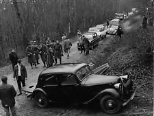 Photo originale tournage ligne de démarcation automobile Citroën DS Traction 11
