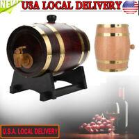 1.5/3/5/10L Vintage Wood Oak Timber Wine Barrel fr Beer Whiskey Spirits Rum Port
