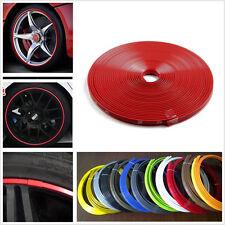 Red Car Motor Bike Wheel Hub Rim Edge Protector Ring Sticker Line Rubber Strip