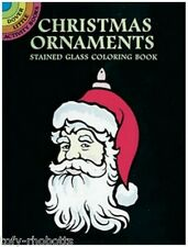 Coloring Book Adult Or Children Christmas Ornaments Stained Glass Mini Size Page