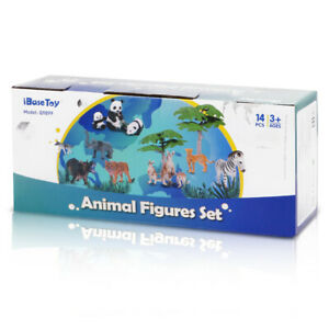 Large Zoo Animals Plastic Toy Figures set of 14 from UK importer Figures Set