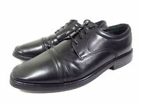 MEN'S FLORSHEIM OXFORDS CAP TOE BLACK LEATHER LACE UP DRESS SHOES SIZE 10.5 D