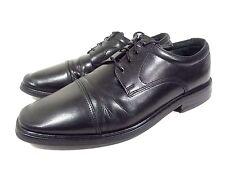 MEN'S FLORSHEIM OXFORDS CAP TOE BLACK LEATHER LACE UP DRESS SHOES SIZE 10.5 D