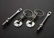 RACING HOOD PINS LOCK KIT SILVER For Fiberglass Steel Carbon Fiber Hood