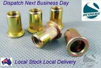 Qty 5 M8 Zinc Steel Plus Nut Plusnut Rivnut Insert Nutsert Grip 0.5-8.1mm