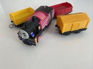 Thomas The Tank Engine and Friends Trackmaster Hyperglow Ashima & 3 Trucks