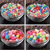 4mm 6mm 8mm 10mm Rubber Frosted Round Charms Glass Loose Spacer Beads DIY Making