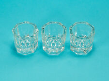 3 Glass Crystal Cups for Acrylic Liquid/Powder Mixing for Nail Art & Design USA