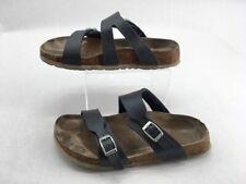 Birkis Birkenstock Womens Slide Sandals Blue Dual Strap Buckle Slip Ons Sz ~5.5