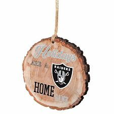 Oakland Raiders Christmas Tree Ornament Stump New - Holidays are a Home Game
