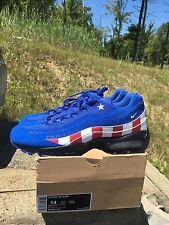 "Nike Air Max 95 DB Doernbecher ""Captain America"" Size 14 Rare"