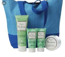 Perlier Gardenia 4-piece Kit with Woven Tote Bag
