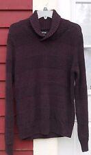 "APT. 9 Burgandy Marled Long Sleeved Collared Pullover Sweater Medium (41"") EUC"