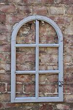 Dekorahmen Fenster Holz Dekofensterrahmen Holzfenster 70x42 Shabby Chic grau