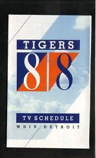Detroit Tigers--1988 Pocket Schedule--WDIV/Miller Lite