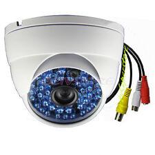 1200TVL AUDIO COLOR COMS 48 BLUE IR 6mm White CCTV Outdoor Security DOME Camera3