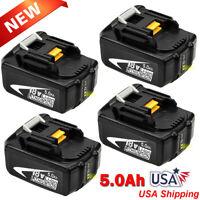 4 Pack For Makita BL1850B-2 18 Volt LXT Lithium-Ion 5.0Ah Battery BL1850 BL1840B