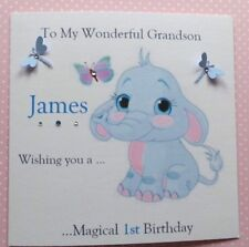 personalised handmade birthday card  Son Grandson Brother  all ages 1st 2nd 3rd