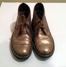 CLARKS ORIGINALS DESERT BOOTS Sz 6  women Metallic Leather Booties