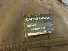 "TCM Cargo Casual men's green shorts inseam 13.5"" Velcro-expandable-waist cotton"