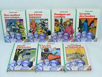Lot de 7 livres LE TRIO de la TAMISE - Edward JONES Bibliotheque verte 70's/80's