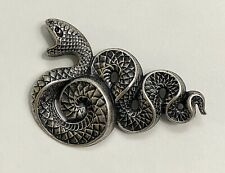 Pin Brooch Silver Plated Snake