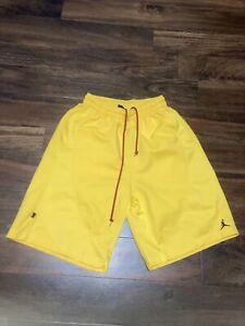 vintage air jordan jumpman yellow shorts 90s? mens medium