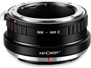 K&F Concept Lens Mount Adapter for Nikon F Mount Lens to Nikon Z Mount Cameras