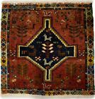 Tribal Small Vintage Rusty Red 2X2 Square Oriental Rug Kitchen Entryway Carpet
