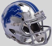 DETROIT LIONS NFL Riddell SPEED Mini Football Helmet CHROME